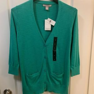 Banana Republic 3/4 Sleeve VNeck Cardigan Sweater